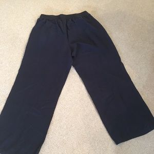 Lane Bryant wide leg linen navy pants!